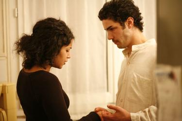 Leila Bekhti as Djamila and Tahar Rahim as Malik in &quot;A Prophet.&quot;